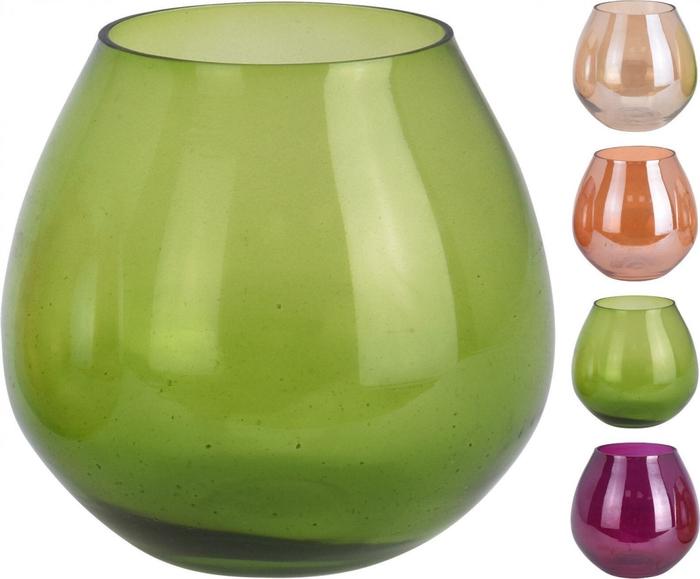 <h4>Glas kleur Theelichth. d10*10cm ass</h4>