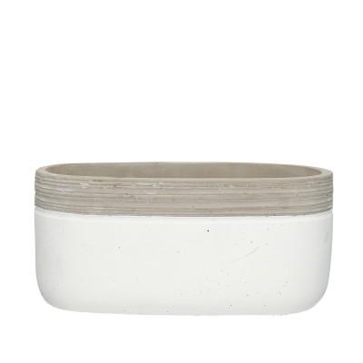 <h4>Ceramics Berlijn pot oval 22/11*10cm</h4>