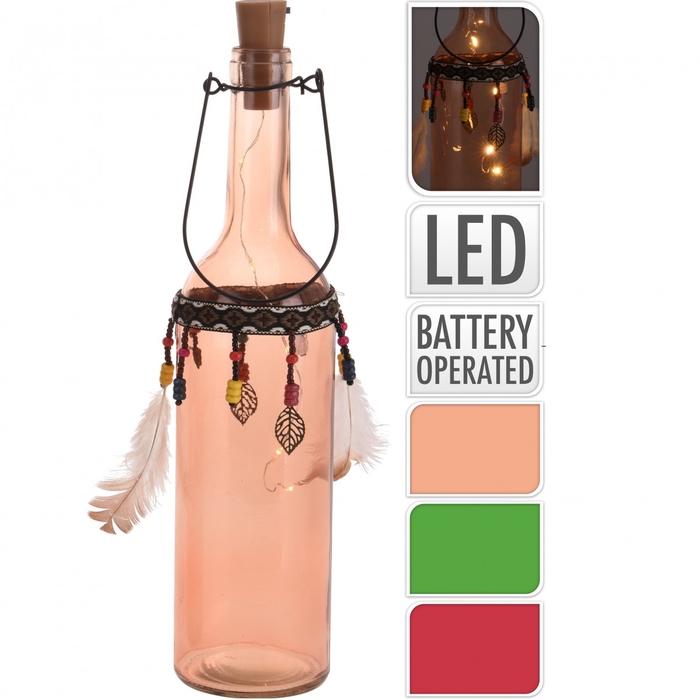 <h4>Glass colour LED Bottle 07*29cm ass</h4>