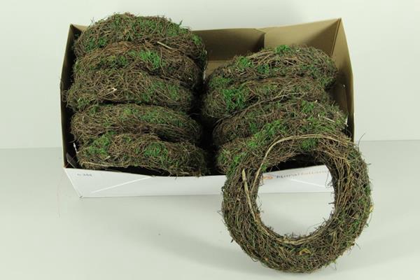 <h4>Wreath Salim 25cm Natural+moss</h4>