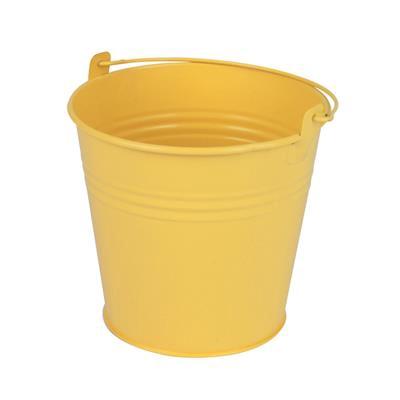 <h4>Bucket Sevilla zinc Ø13xH13cm - ES12 yellow matt</h4>