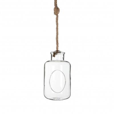 <h4>Glas Fles+touw d12*21cm</h4>