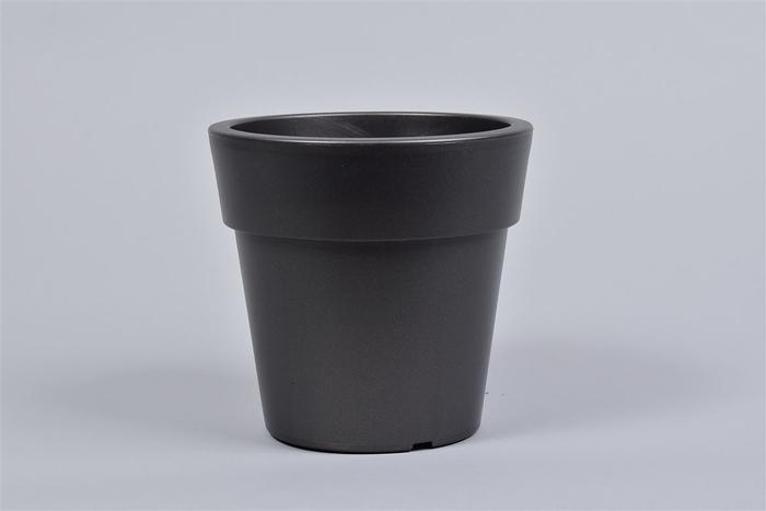 <h4>Kunststof Pot Antra Brede Rand 16x15cm</h4>