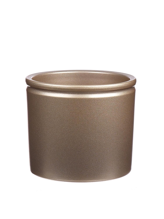<h4>DF883676500 - Pot Lucca1 d23.3xh21.5cm gold Tray/2</h4>