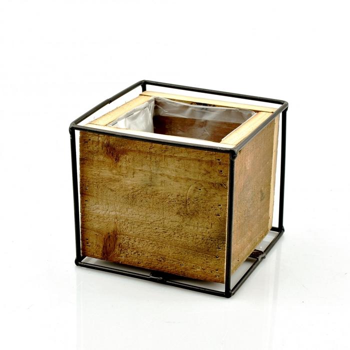 <h4>Hout Kist vierkant d12.5*11cm</h4>