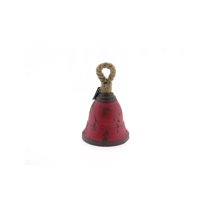 <h4>Bell Hang Mtl+rope H25cm Red</h4>