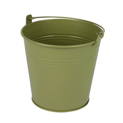 <h4>Bucket Sevilla zinc Ø11,7xH9cm - ES10,5 green matt</h4>