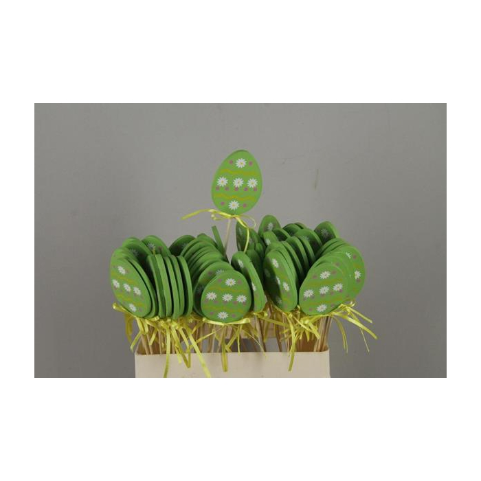 <h4>Stick Egg Wood+ribbon Green</h4>
