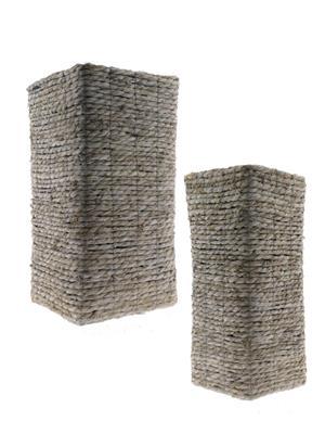 <h4>Basket Rope S/2 28x28x55cm</h4>