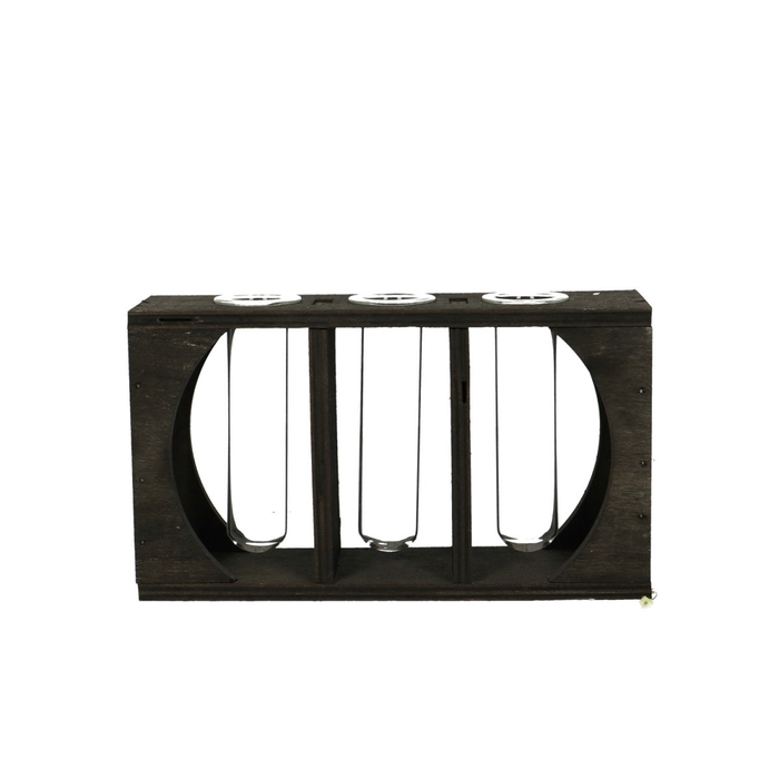 <h4>Glas Tray 3buis d20/6*11.5cm</h4>