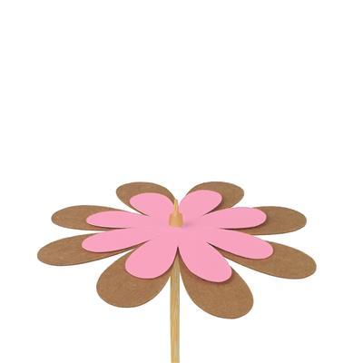 <h4>Bijsteker bloem kraft 8cm+50cm stok roze</h4>