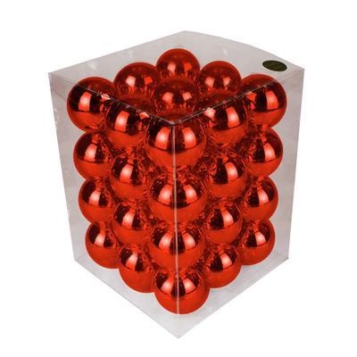 <h4>Boules de Noël 57mm brillantes rouge 36 pcs.</h4>