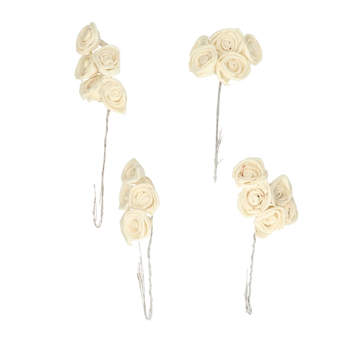 <h4>Decoration Mini roses/wire 3cm x100</h4>