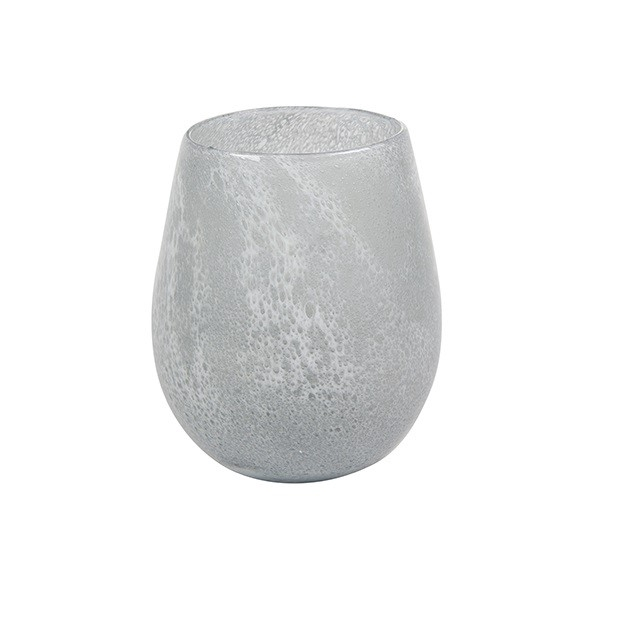 <h4>Glass colour Liz ball vase d18*22cm</h4>