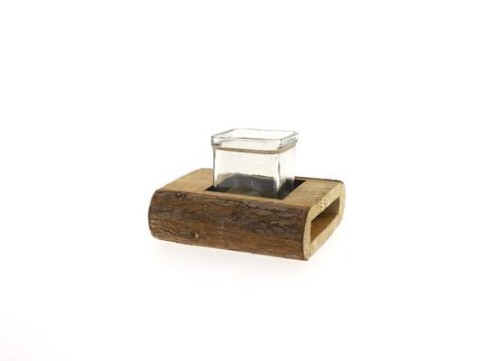 <h4>Wooden Holder+sq. Glass 16x15</h4>