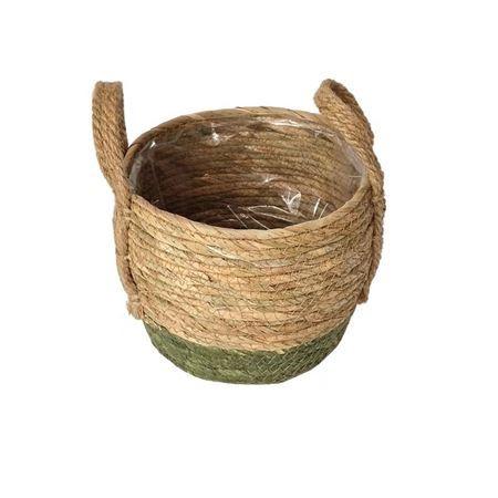 <h4>Basket Belmar d22xh18 beige/green</h4>
