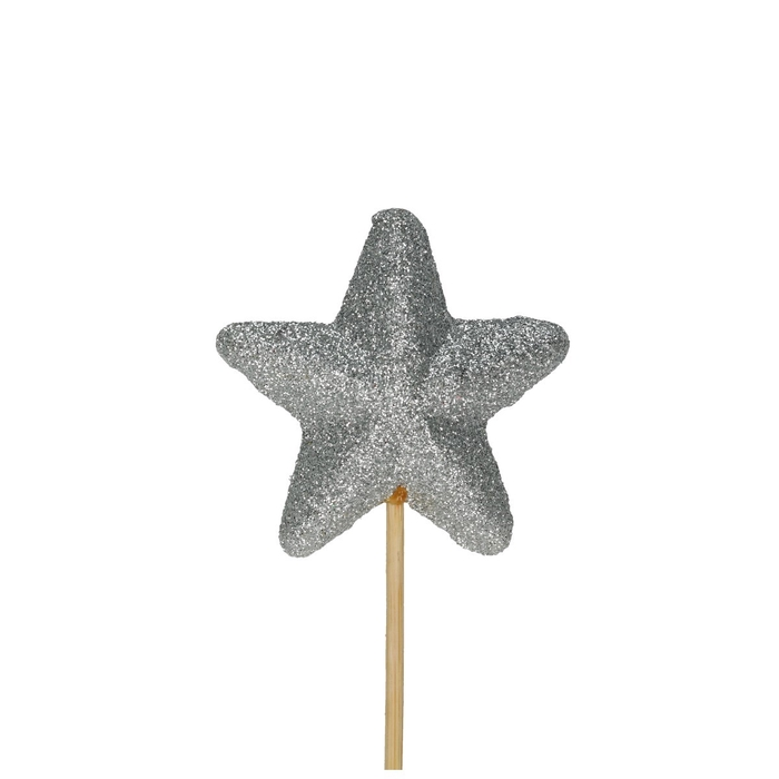 <h4>Christmas sticks 50cm Star glitter d6cm</h4>