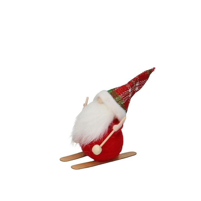 <h4>Kerst Kerstman ski 13cm x12</h4>