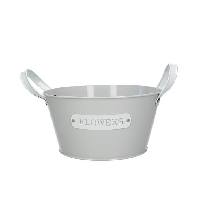 <h4>Zinc Flowers tray d22*11cm</h4>