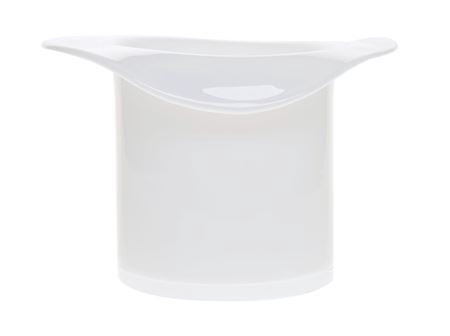 <h4>Glass 'Hat' d30xh20cm white</h4>