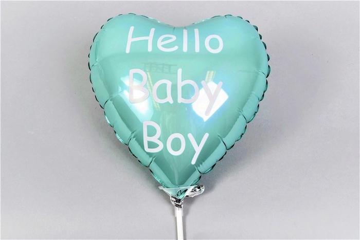 <h4>Bijsteker Ballon Hello Baby Boy 18x11x55cm Per Stu</h4>