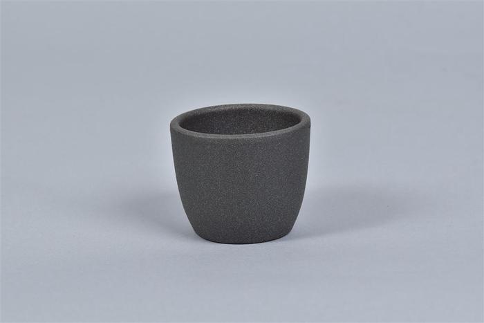 <h4>Keramiek Pot Grijs Donker 7cm</h4>
