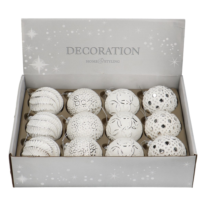 <h4>Christmas bauble Bal deco d80mm 4ass</h4>