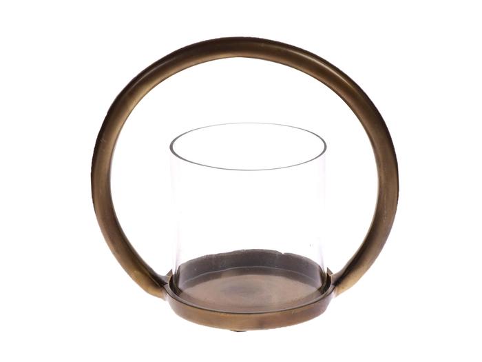 <h4>DF530450300 - Candleholder Bonita3 d20.5 brass antique</h4>