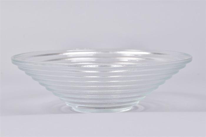 <h4>Glas Schaal Ribbel Konisch D23cm</h4>