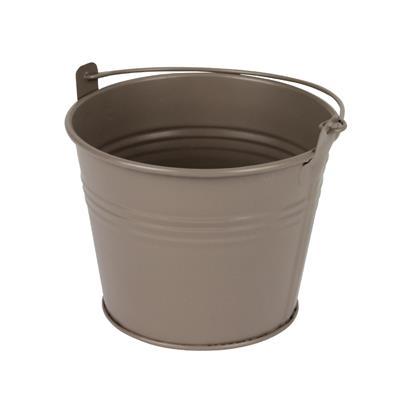 <h4>Bucket Sevilla zinc Ø11,7xH9cm - ES10,5 taupe matt</h4>