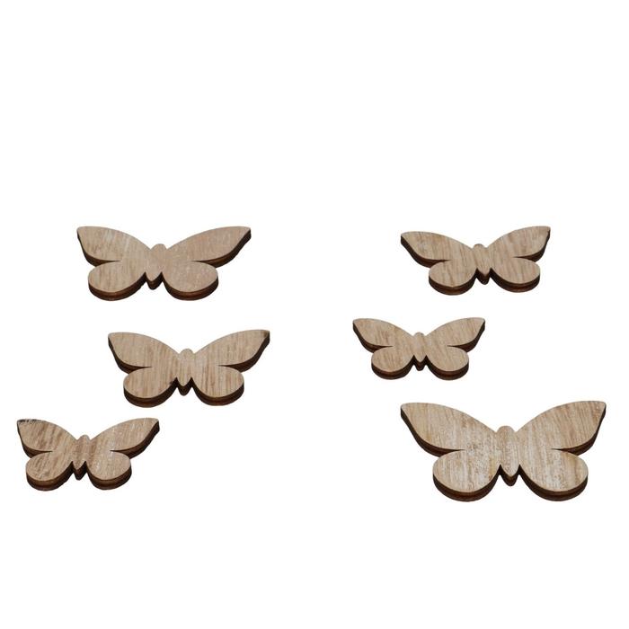 <h4>Voorjaar Hout vlinder 5-7cm x12</h4>