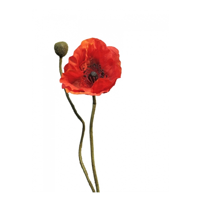 <h4>SILK FLOWERS - PAPAVER RHOEAS RED 60CM</h4>