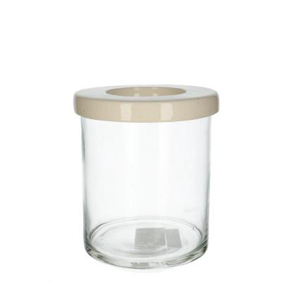 <h4>Glas Navone Cilind.+deksel d15*20cm</h4>