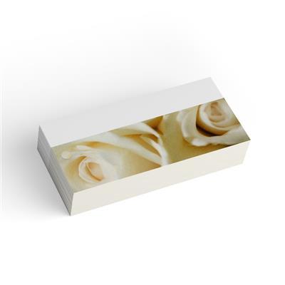 <h4>Bloemkaart stylish 26 blanco witte roos-pakje 20st</h4>