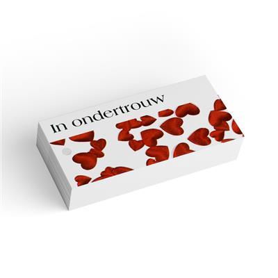<h4>Bloemkaart stylish 33 ondertrouw -pakje 20 stuks</h4>