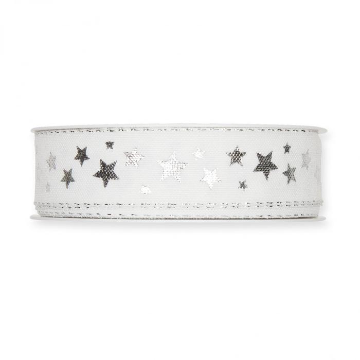 <h4>Christmas Ribbon Little stars 25mm 18m</h4>
