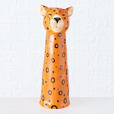 <h4>Vase Gepard, H 45 cm, Stoneware, Brown stoneware brown</h4>