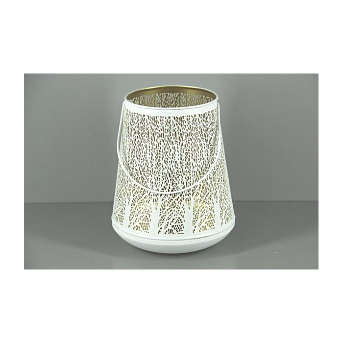 <h4>Lantern Mtl Bucket Wht+hnd 30</h4>