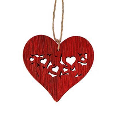 <h4>Hanger heart full 7x7,5cm + 16cm touw rood</h4>