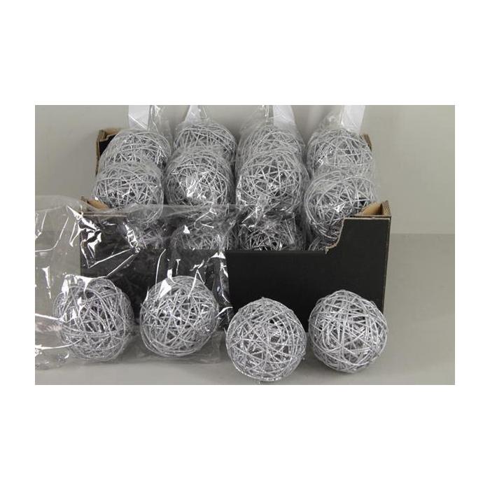 <h4>Bruce Ball 10cm Silver Gl(4pc)</h4>