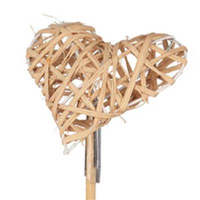 <h4>Cœur de Valentine woody sur tige 50cm naturel</h4>