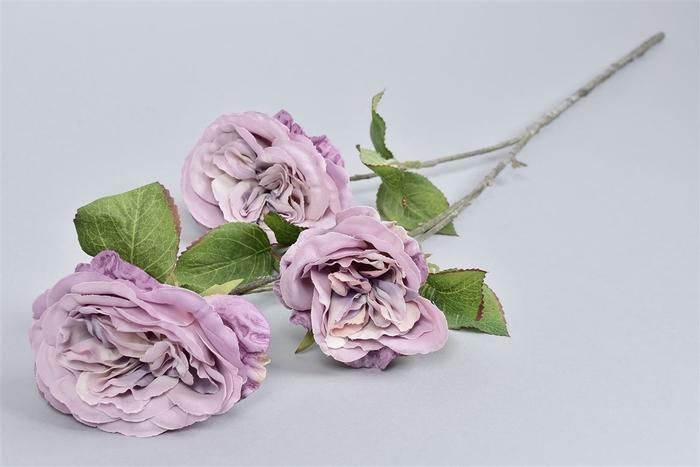 <h4>Silk Roos 3 Tak Paars L80cm</h4>