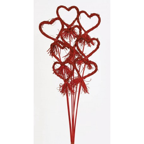 <h4>Rattan corazon rafia rojo</h4>