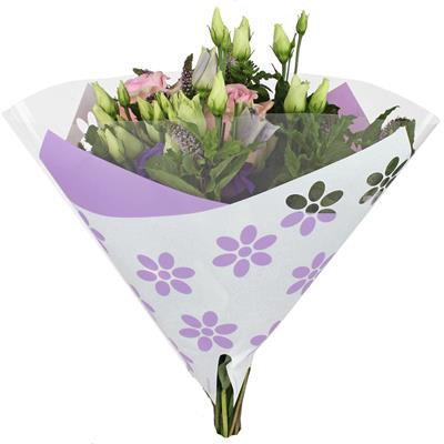 <h4>Housses 35x35cm Angelo OPP40 Clear Flowers lilas</h4>