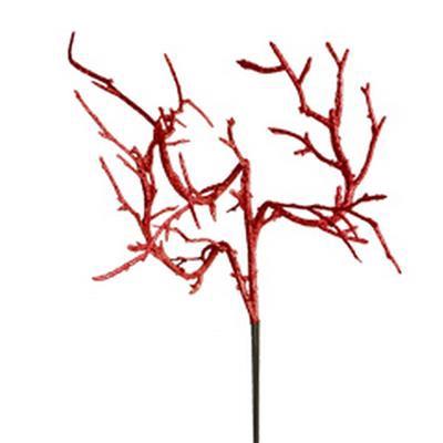 <h4>Bijsteker Koraaltak 12x12cm+12cm stok glitter rood</h4>