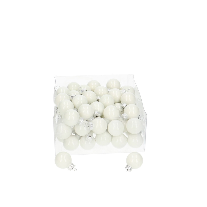 <h4>Christmas bauble Ball 25mm pearl x72</h4>