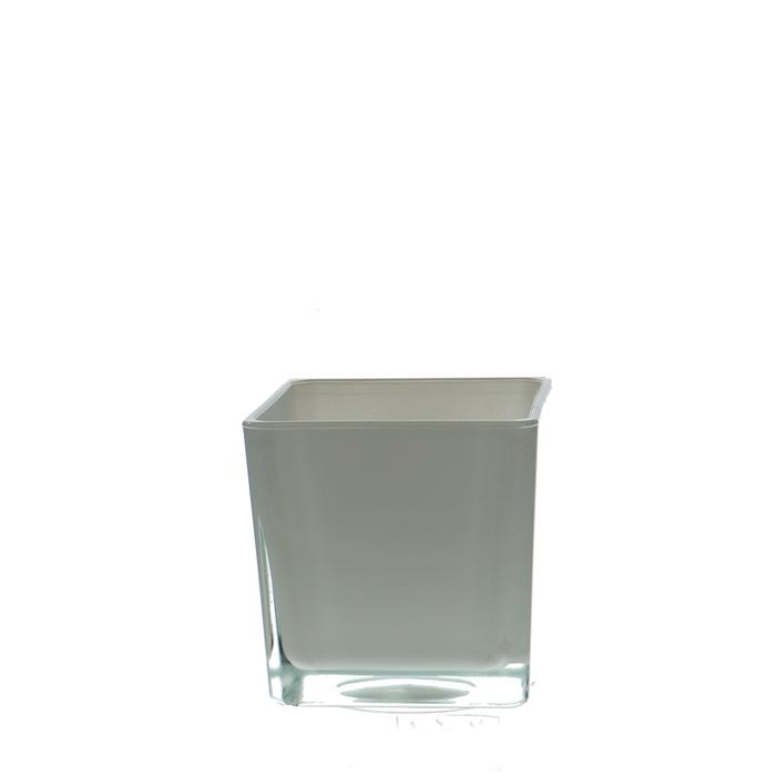 <h4>Glass colour Cube taper d10*10cm</h4>