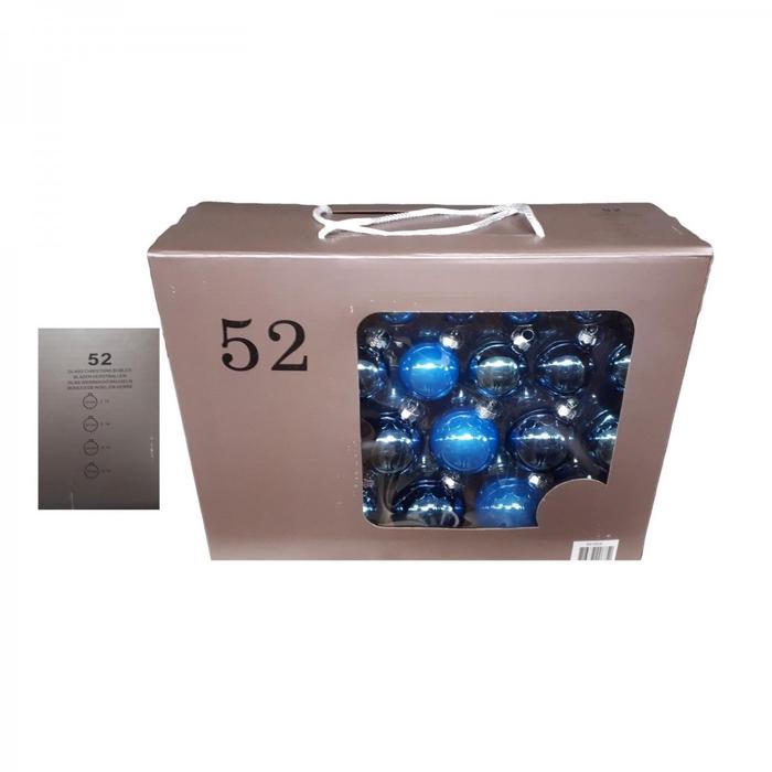 <h4>Kerstbal Bal 40-70mm box ass x52</h4>