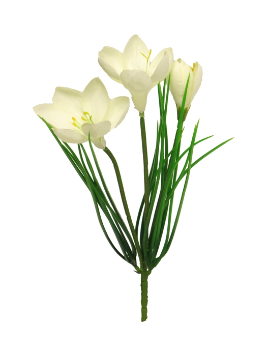 <h4>SILK CROCUS BUSH SYLVIA CREAM 30CM 88858-0</h4>