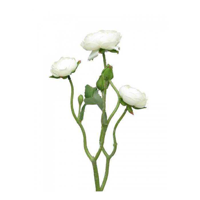<h4>SILK FLOWERS - RANONCULUS AZURA CREAM 48CM</h4>